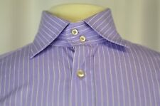 Etro Men's Shirt Size 40 Striped Purple Casual Medium Cotton Italy Party