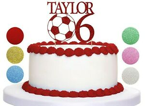 Football Cake topper Personalised Custom Happy Birthday Any Age Any Name kids