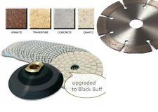 "5"" Diamond Polishing Pad 18 + 3 Diamond cutting saw blade granite concrete slate"