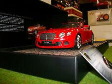 BENTLEY GT SPEED Cabriolet 2013 roge 1/18 MINICHAMPS 107139330 voiture miniature