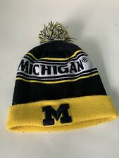 Michigan Wolverines Football Sideline Adult Beanie Knit Hat Cap Snow Winter