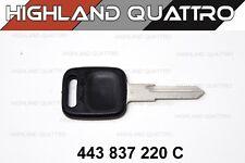 Audi ur quattro / coupe / 80 / 90 genuine main key blank (AH) 443837220C