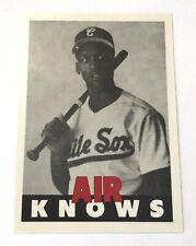 Rare-Michael Jordan AIR KNOWS Air Jordan Baseball White Sox Rookie Card 23 Promo