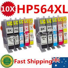 10 HP 564 XL Ink Cartridges For Photosmart 5520 3520 6520 7520 4620 7510 Printer