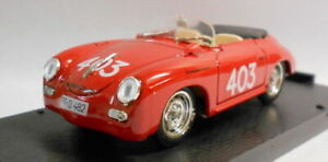 Brumm 1/43 Scale Metal Model - R207 PORSCHE 356 SPEEDSTER MILLE MIGLIA 1952