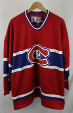 Vintage Montreal Canadiens CCM Hockey Jersey Sz XL Red