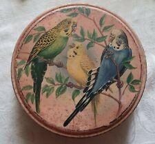 More details for vintage peek frean & co budgie round tin rare