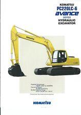 Equipment Brochure - Komatsu - PC220LC-6 Avance - Excavator - c1994 (E4951)