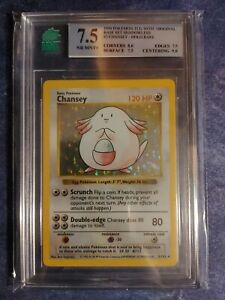 💎MNT Graded 7.5💎 Shadowless Chansey 03/102