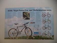 advertising Pubblicità 1991 BICICLETTA MBK M 523 TRACKER