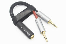2 x 3.5mm Male to 4.4mm Female Headphone Earphone Audio Adapter Cable for PHA-3