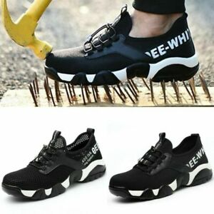 Women Steel Toe Cap Safety Shoes Breathable Lightweight Mens Ladies Work Boots