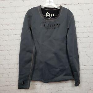Kutting Weight Mens Neoprene Fitness Sauna Suit Long Sleeve Shirt Grey Size 2XL