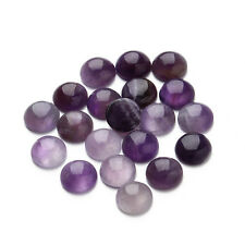 10pcs 6-13mm Natural Amethyst Stone Cabochons Round Flatback Domes Cameo Beads