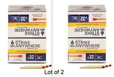 UCO Compact Strike Anywhere Matches MT-SA-10PK 10 Boxes 32 ea bx 2 Box Lot