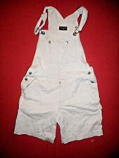 Polo Ralph Lauren Size Small  - Ladies White Denim Jean Dungarees Shorts - X369