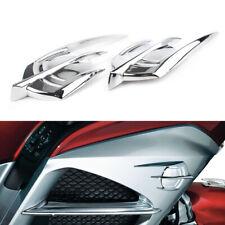 Pair Chrome Falcon Fairing Emblem Cover For Honda Goldwing GL1800 2012-2017