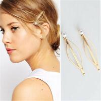 Chicas Pearl horquillas Barrettes Accesorios para el cabello Leaf clips de pelo