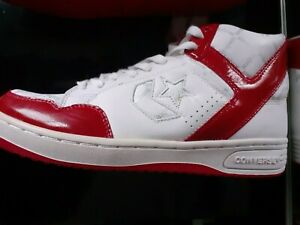 Converse Red and white  'Weapon' UK7 leather unisex trainers