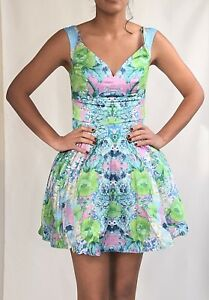 ASOS Bardot Floral Skater Dress Multi colour  Sizes 4-12 F