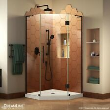 "DreamLine Prism Plus 36"" x 36"" Hinged Shower Enclosure with Shower Base Kit"