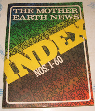 Vintage The Mother Earth News Index for Issues 1 through 60  1970-79