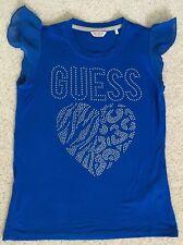 TOPP ** T-Shirt für Mädchen **blau ** GUESS ** Gr. 152 ** NEU ** TOPP