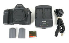 Canon Eos 5D Mark 12.8Mp Digital Slr Camera Body - Black w Battery & Charger