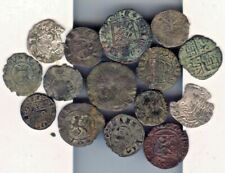 Cincin19,Great lot 15 Medieval coins,Spain,(some brokens)