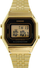 Casio LA-680WGA-1D Ladies Gold Tone Digital Watch Mid-Size Retro Vintage New