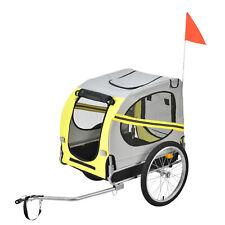 Fahrradanhänger Anhänger Hundeanhänger Hunde Transport Fahrrad Trailer Gelb