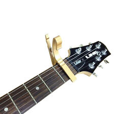 Brand NEW GOLD Acoustic Electric Guitar Capo Trigger Change Clamp Key Perfe