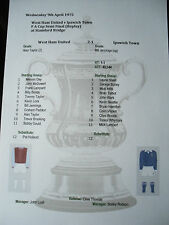 1974-75 F A Cup Semi Final (Replay) West Ham United v Ipswich Town Matchsheet