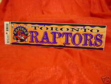 Toronto Raptors NBA Team Logo Bumper Sticker