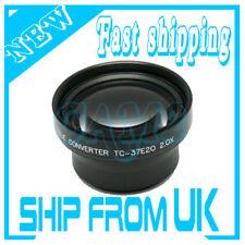 37mm 2X Tele Conversion Lens for Sony Camcorder Canon Nikon Fujifilm camera