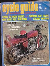 Cycle Guide Magazine Moto Cross BSA Kawasaki Indian OSSA May 1969