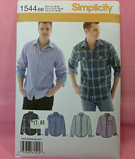 Simplicity 1544 Men's Long Sleeved Shirt 4 Looks Sewing Pattern size 44-52 New