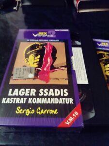 RARE ITALIAN VHS TAPE 'LAGER SSADIS KASTRAT KOMMANDATUR' SS Experiment Love Camp
