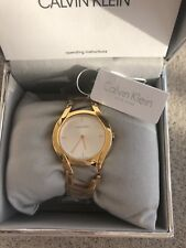 Calvin Klein Women's Quartz Watch K6R236 Authentic Stain Silver Swiss Watch