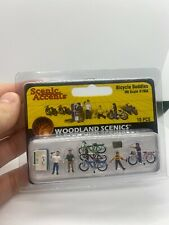 Woodland Scenics A1904 HO Scenic Accents Bicycle Buddy Figures (Pack of 10)