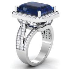 Princess Blue Sapphire Solitaire Gemstone Designer Engagement Wedding Ring