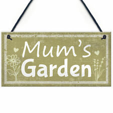 Mums Garden Novelty Plaque Summer House Sign Garden Shed Sign Gifts For Mum