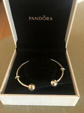 Pandora Open Bangle With Clear Crystals