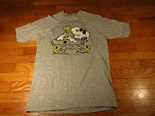 Vintage 1960's Peanuts Snoopy Woodstock T Shirt Xs Small Medium Large Gray Usa