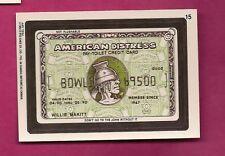 RARE OPC 1992 WACKY PACKAGES AMERICAN DISTRESS  NRMT-MT CARD (INV#6429)