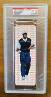 TIGER WOODS 1997 ROOKIE YEAR AWESOME GOLF ATHLETES BOOKMARK Near Mint-Mint PSA