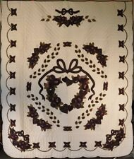 NEW! AUTHENTIC! Hand-Made Lancaster Amish Quilt Country Love 98 X 112