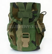 2 US Military 1 Quart Woodland MOLLE Utility Dump Pouch Canteen Carrier VGC