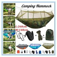 Double Outdoor Person Travel Camping Hanging Hammock Swing Bed+Mosquito Net Set