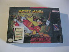 Mickey Mania SNES Super Nintendo Factory sealed game